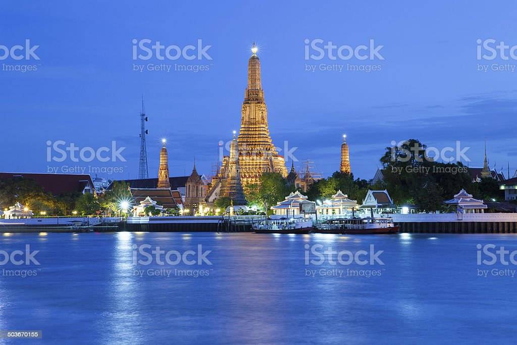 Wat Arun at dusk royalty-free stock photo