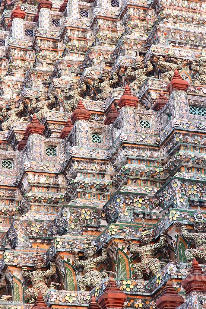 Wat Arun, Bangkok stock photo