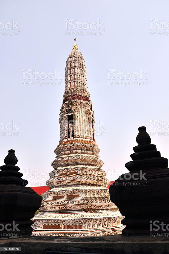 Wat Arun Bangkok Thailand , temple in thailand stock photo