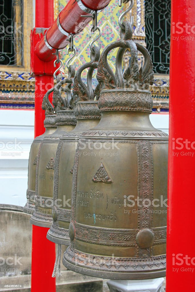 Wat Arun Bells stock photo