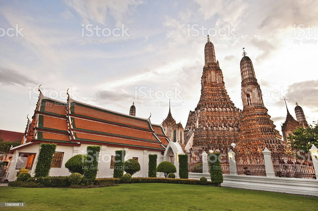 Wat Arun ( The Temple of Dawn) in bangkok thailand royalty-free stock photo
