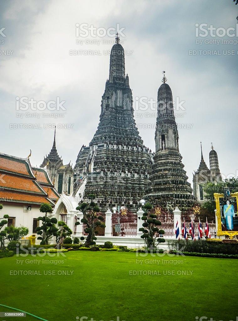 Wat Arun, Prang, Temple of the Dawn, Bangkok, Thailand stock photo