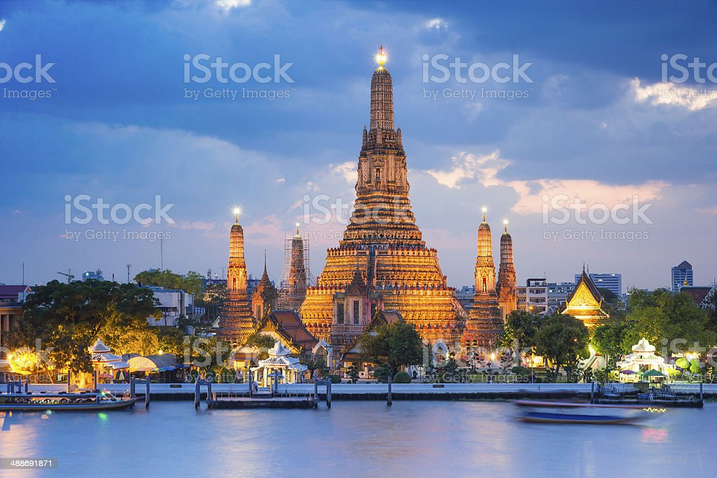 Wat Arun temple , bangkok ,thailand stock photo