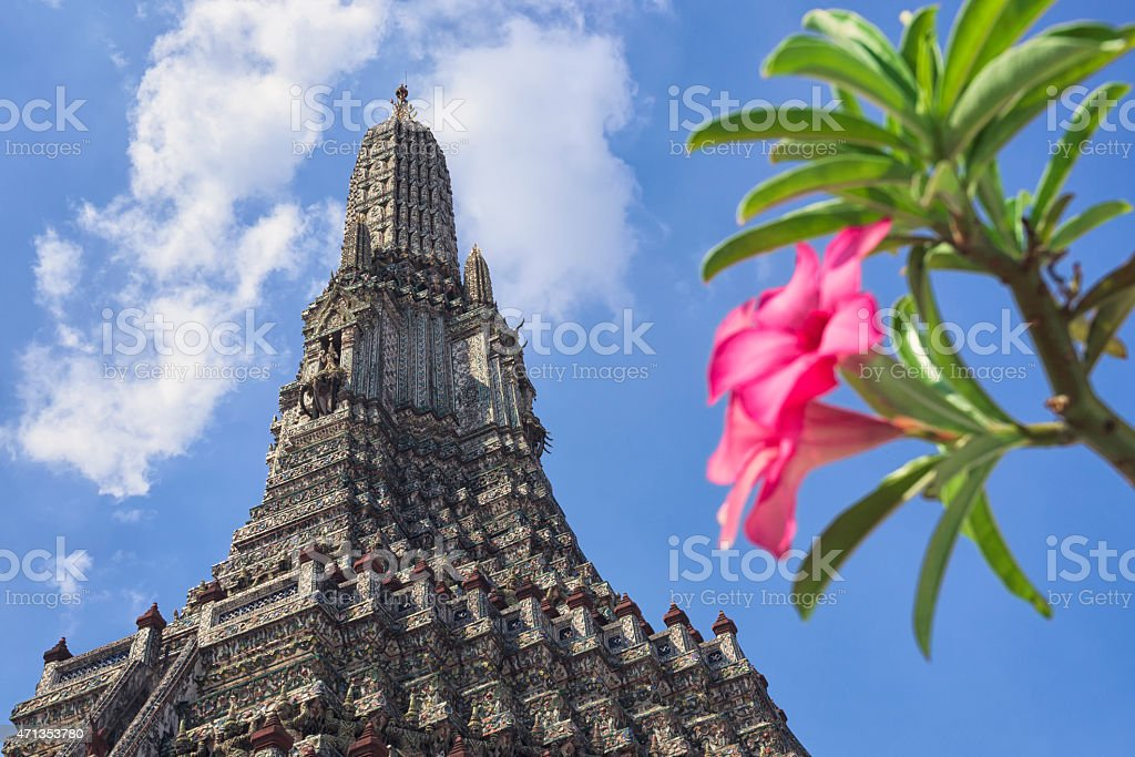 Wat Arun temple in Bangkok stock photo