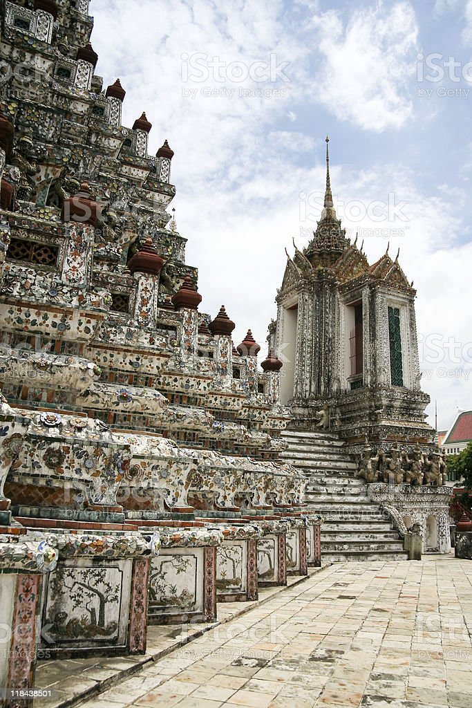 wat arun temple of the dawn royalty-free stock photo