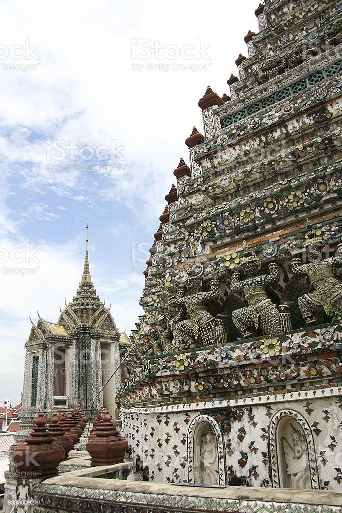 Wat arun temple of the dawn royalty-free stock photo
