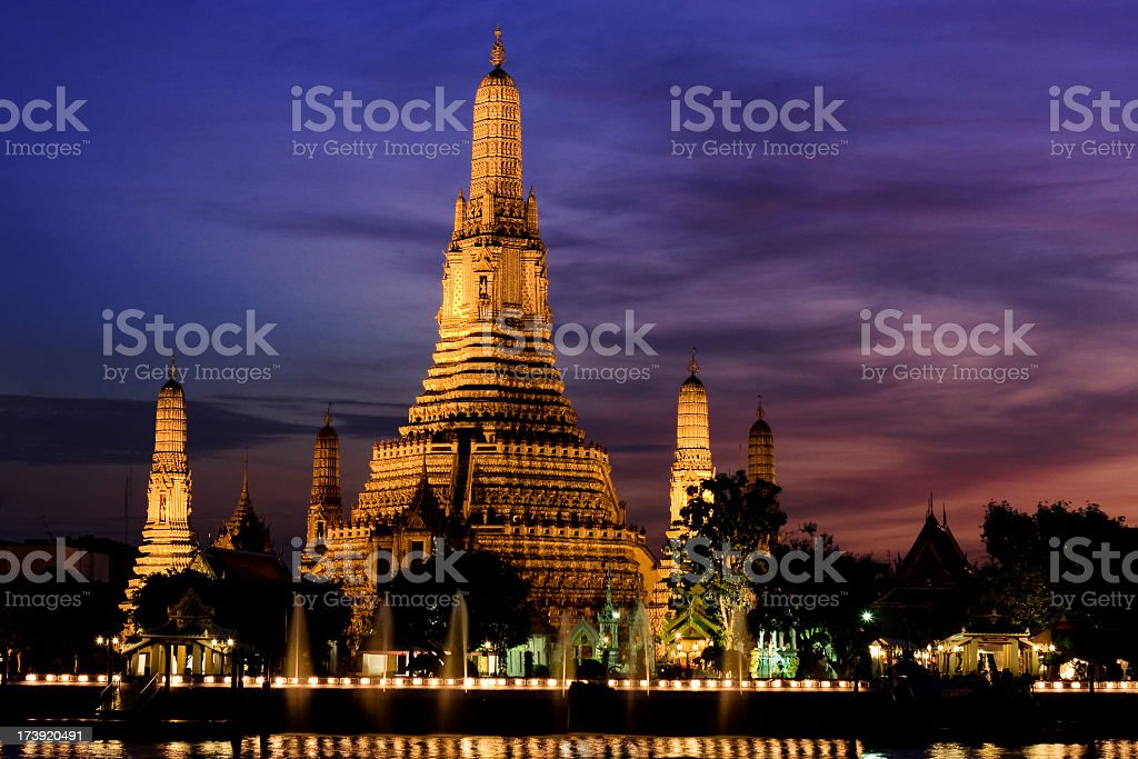 Wat Arun temple royalty-free stock photo