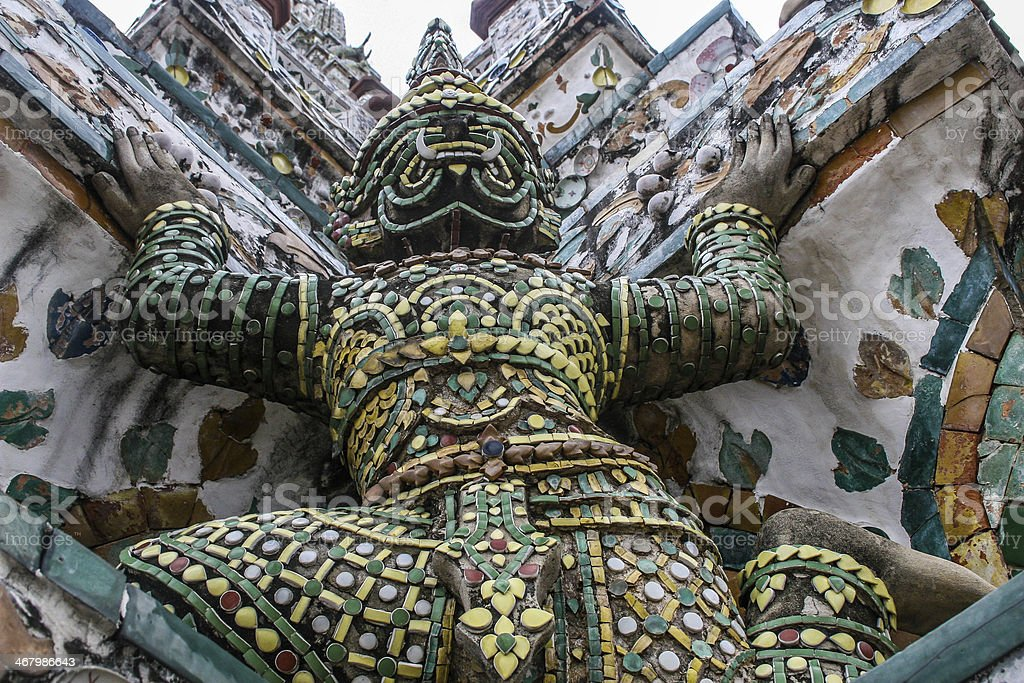 Wat Arun,Chao Phraya River royalty-free stock photo