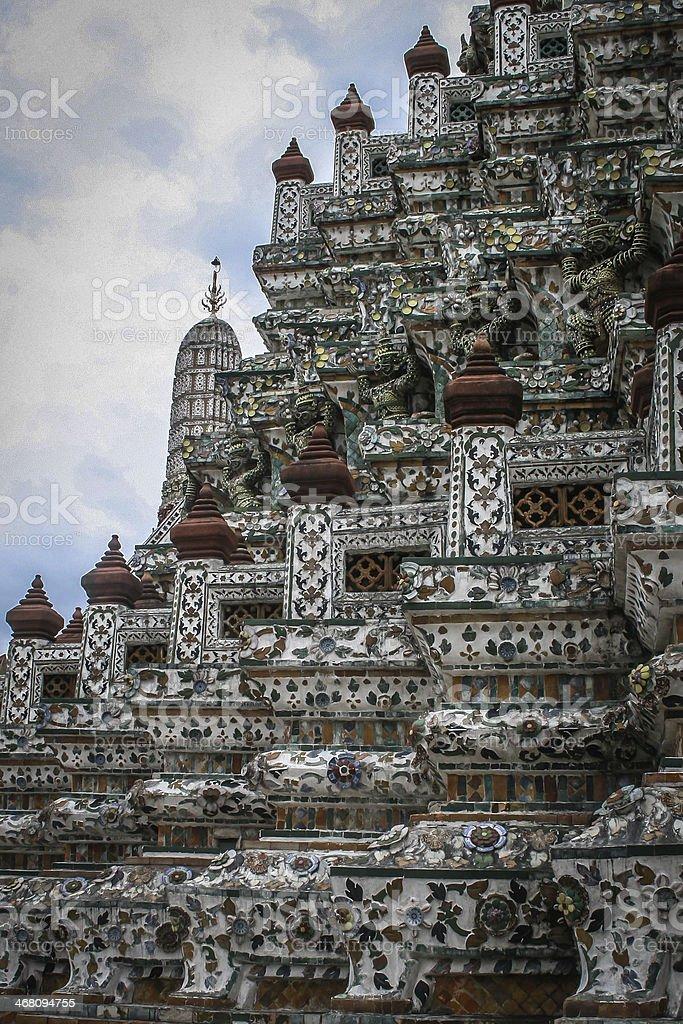 Wat Arun,Chao Phraya River royalty-free stock photo