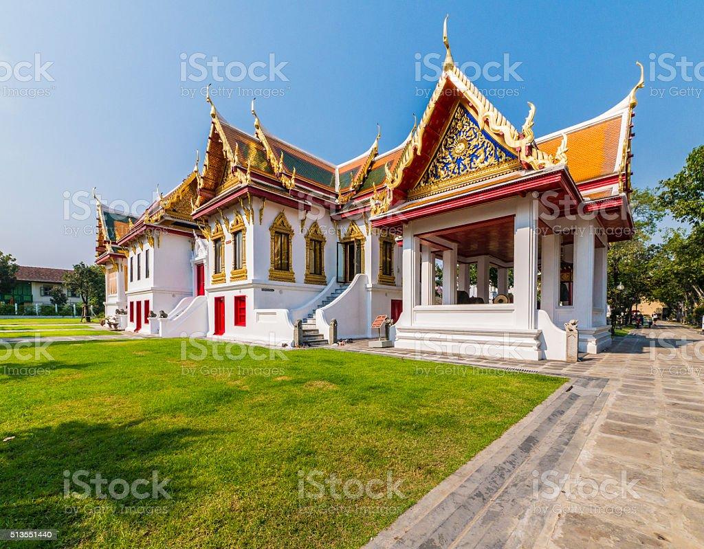 Wat Benchamabophit temple complex in Bangkok Thailand stock photo