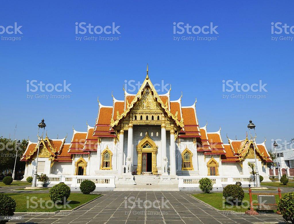 Wat Benchamabophit Temple in Bangkok Thailand royalty-free stock photo