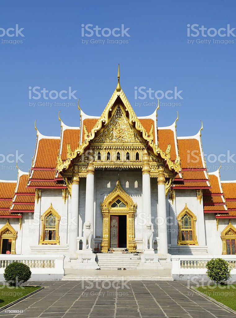 Wat Benchamabophit Temple in Bangkok Thailand stock photo