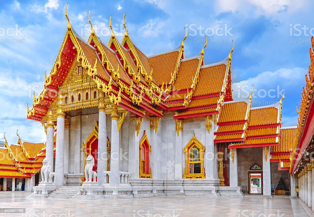 Wat Benjamabophit (Marble Temple) in Bangkok. foto royalty-free