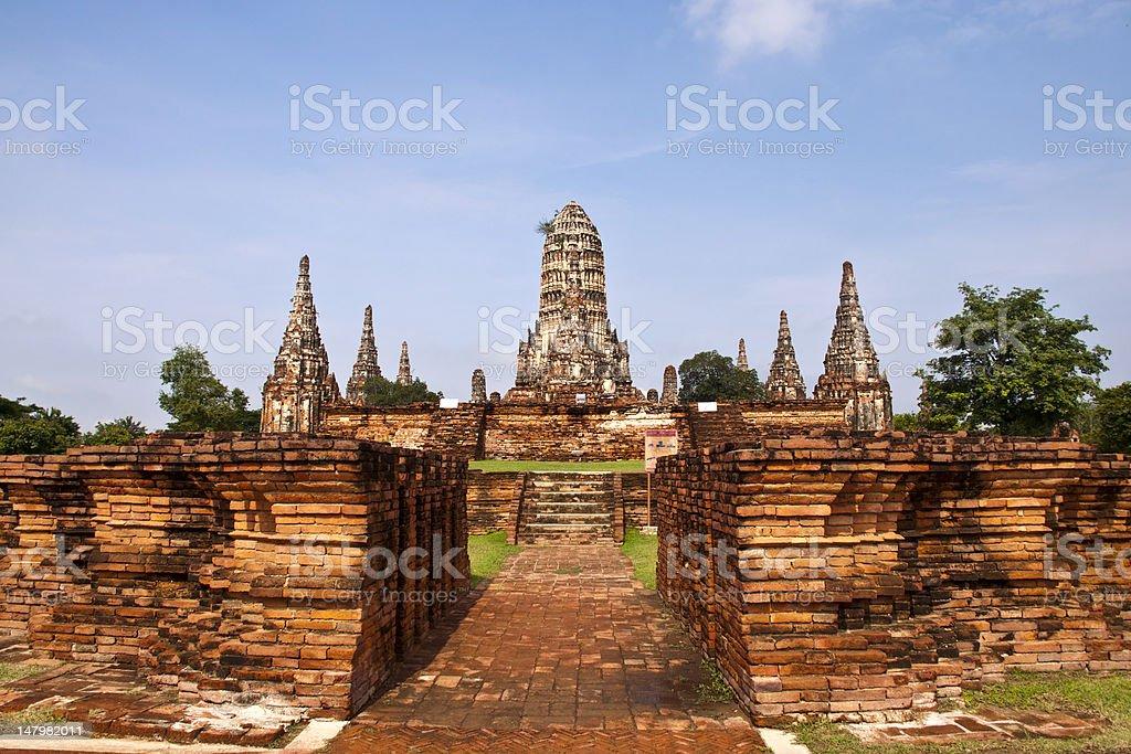 Wat Chai Wattanaram, Ayutthaya w Tajlandii zbiór zdjęć royalty-free