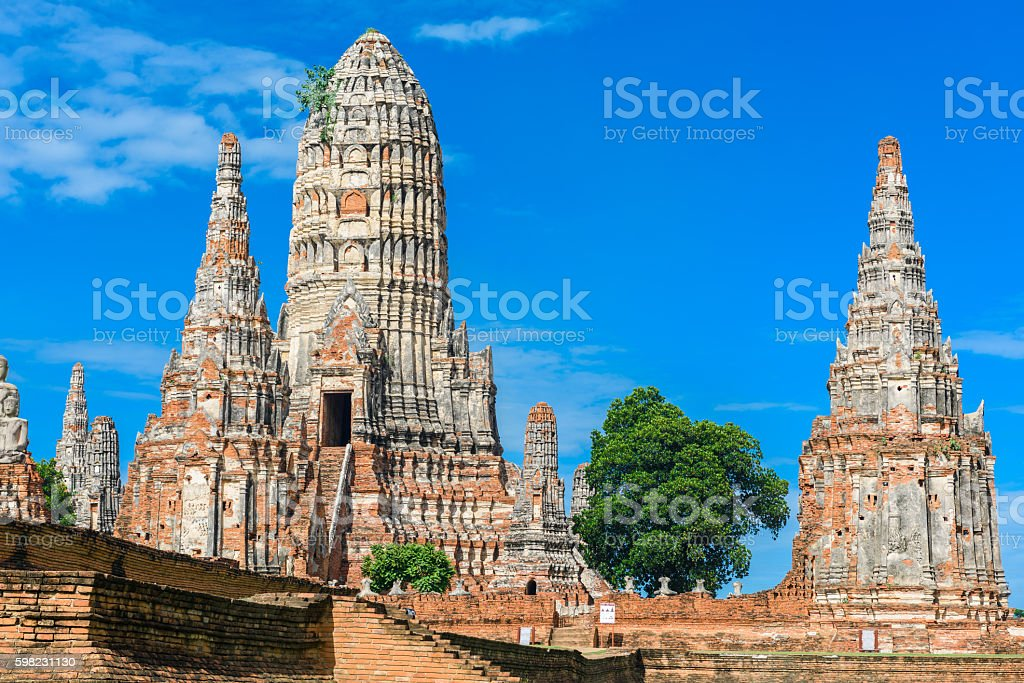 Wat Chai Watthanaram built by King Prasat stock photo