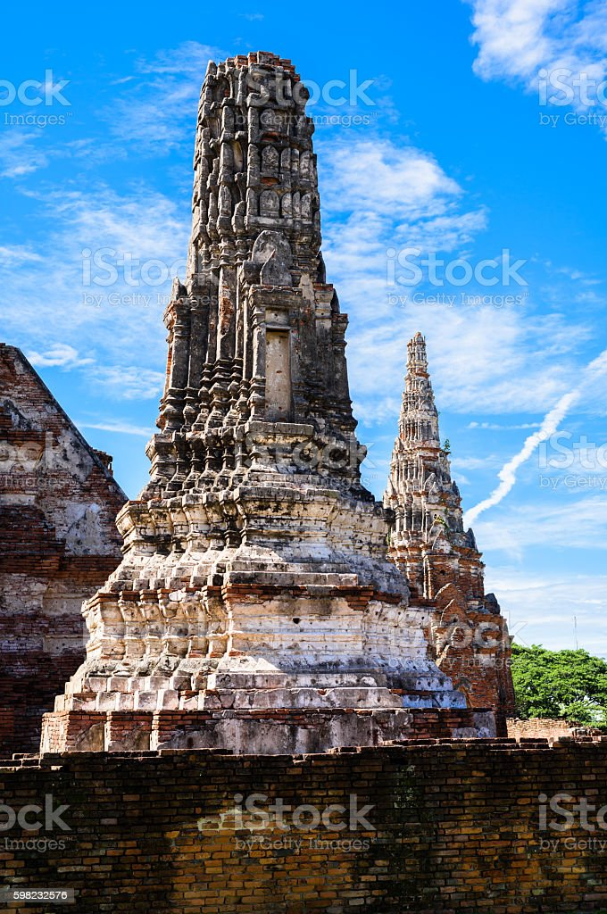 Wat Chai Watthanaram built by King Prasat stock photo