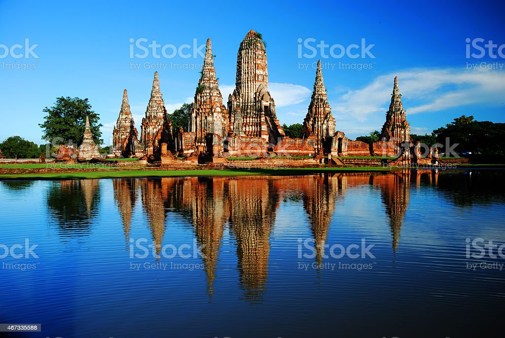 Wat Chaiwatanaram Thailand stock photo