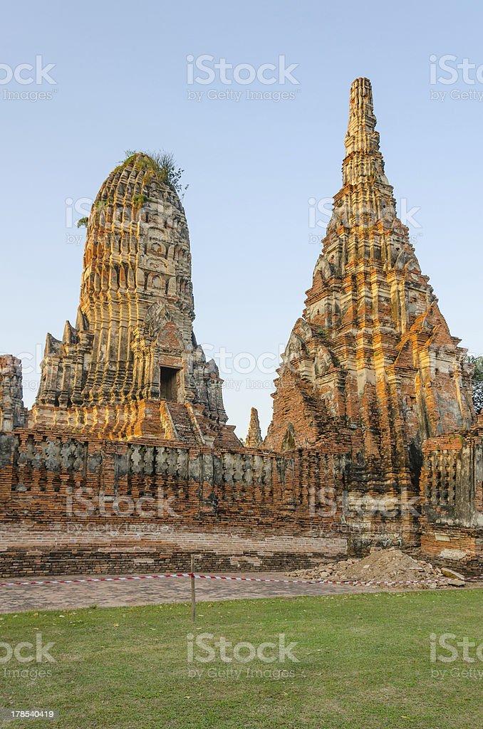 Wat Chaiwattanaram, Ayutthaya royalty-free stock photo