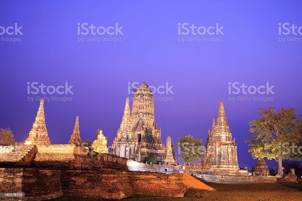 Wat Chaiwatthanaram, Ayutthaya - Thailand royalty-free stock photo