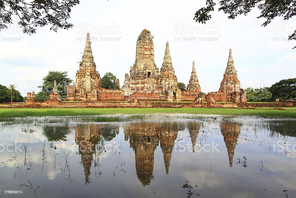 Wat Chaiwatthanaram, Ayutthaya, Thailand royalty-free stock photo