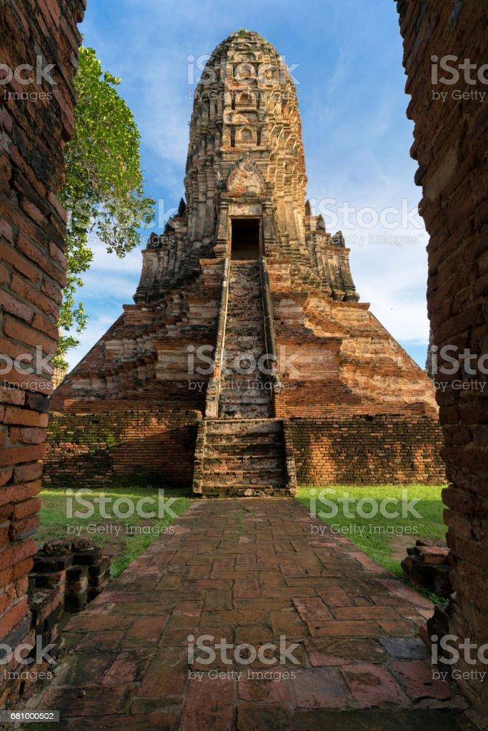 Wat Chaiwatthanaram in the city of Ayutthaya historic park, Thailand stock photo