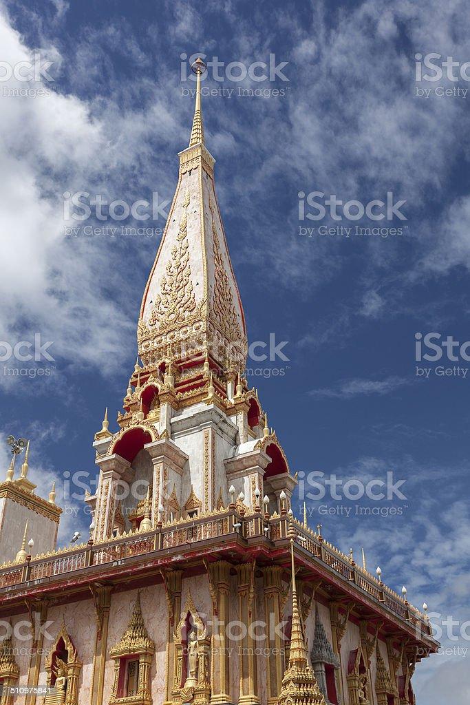 Wat Chalong Phuket province, Thailand. stock photo