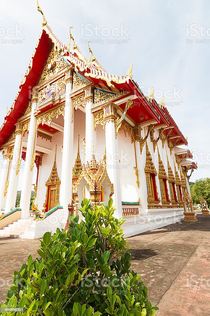 Wat Chalong temple in Phuket, Thailand stock photo