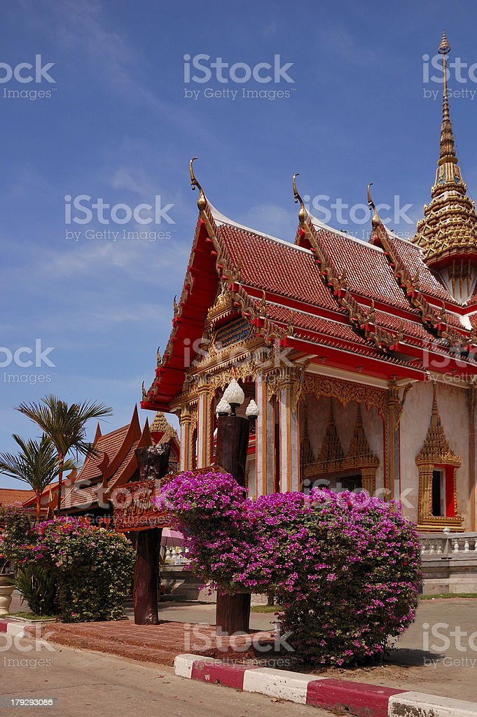 Wat Chalong temple. Phuket island. Thailand. royalty-free stock photo