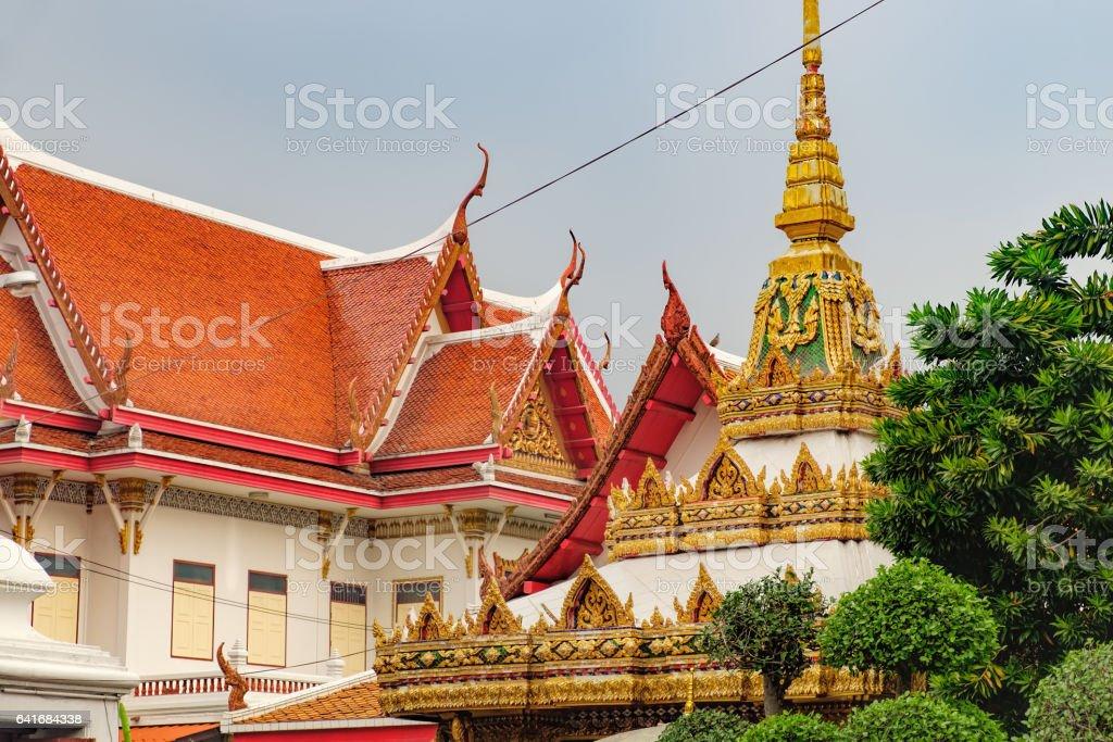 Wat Chana Songkhram in Bangkok, Thailand stock photo
