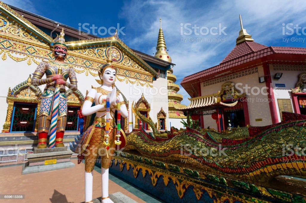 Wat Chayamangkalaram Georgetown Penang Malaysia stock photo
