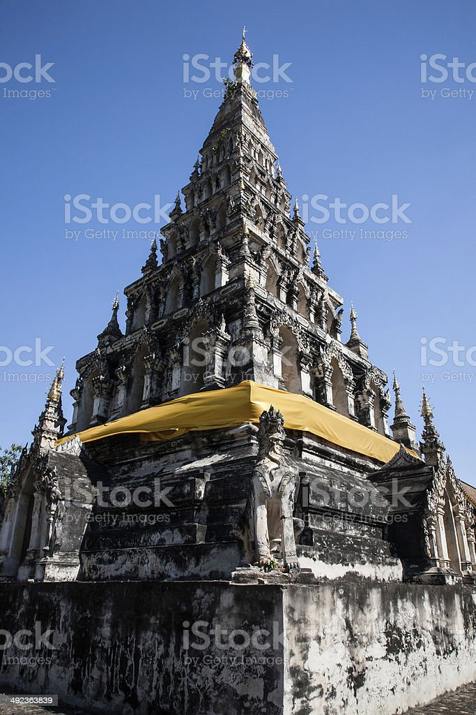 Wat chedi lium, Wiang kumkam,Chiangmai royalty-free stock photo