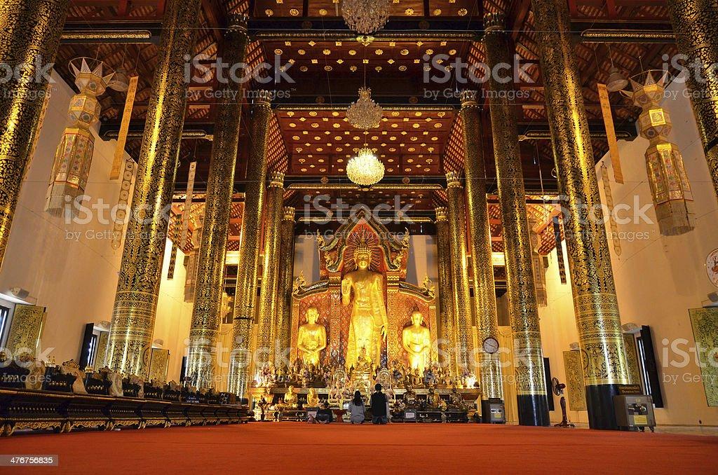 Wat Chedi Luang Chiang Mai Temple Thailand royalty-free stock photo