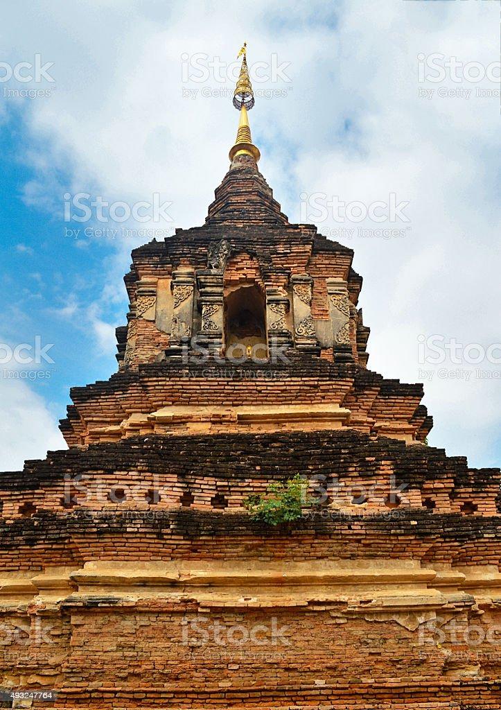 Wat Chedi Luang, historic Chiang Mai landmark, Thailand stock photo