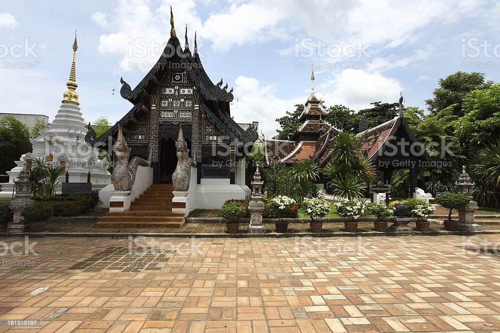 Wat Chedi Luang temple at day, Chiang Mai, Thailand. stock photo