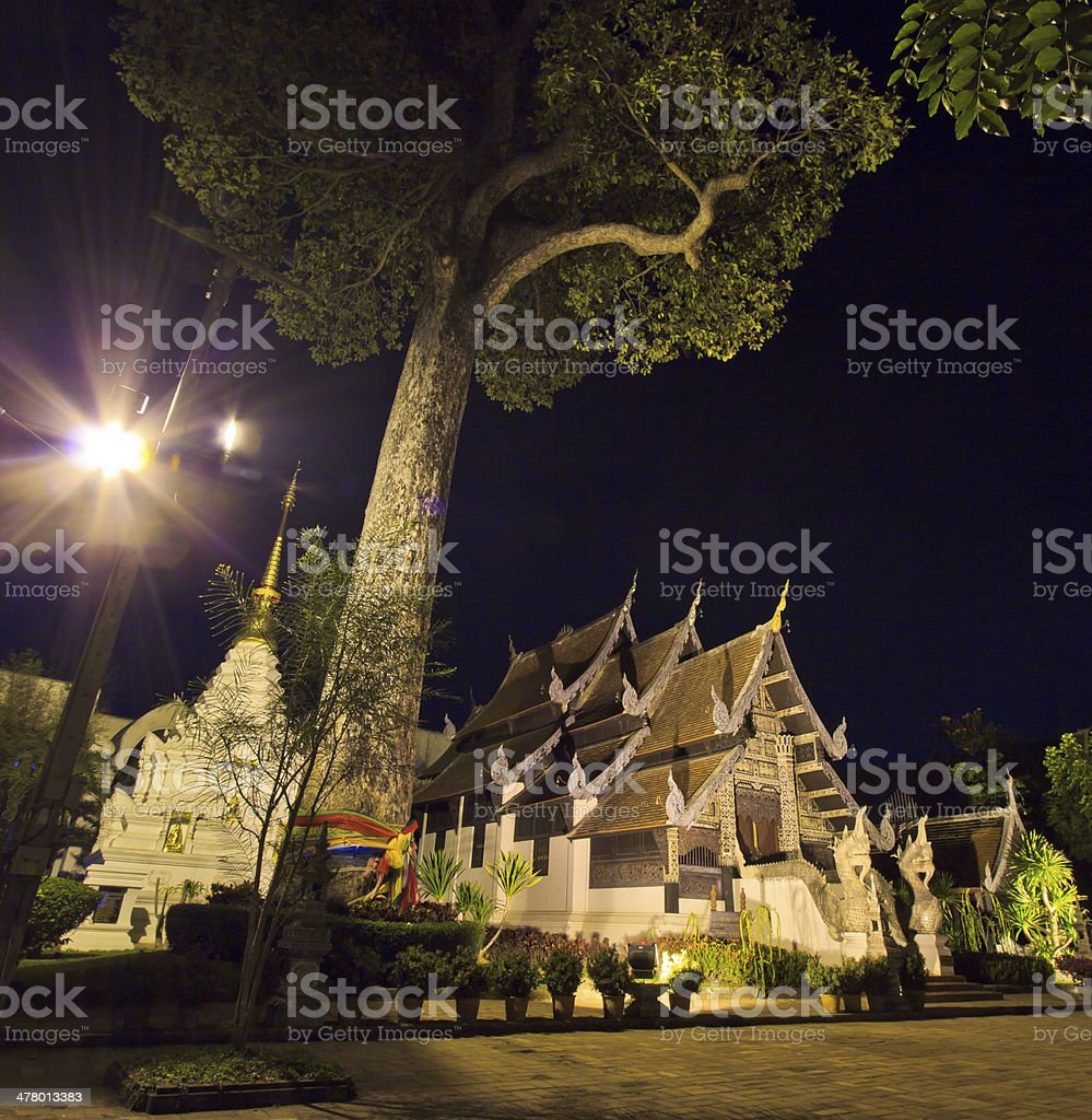 Wat Chedi Luang, temple chiang mai asia Thailand stock photo