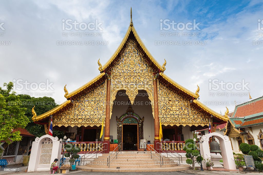 Wat Chiang Man, Chiang Mai, Thailand stock photo