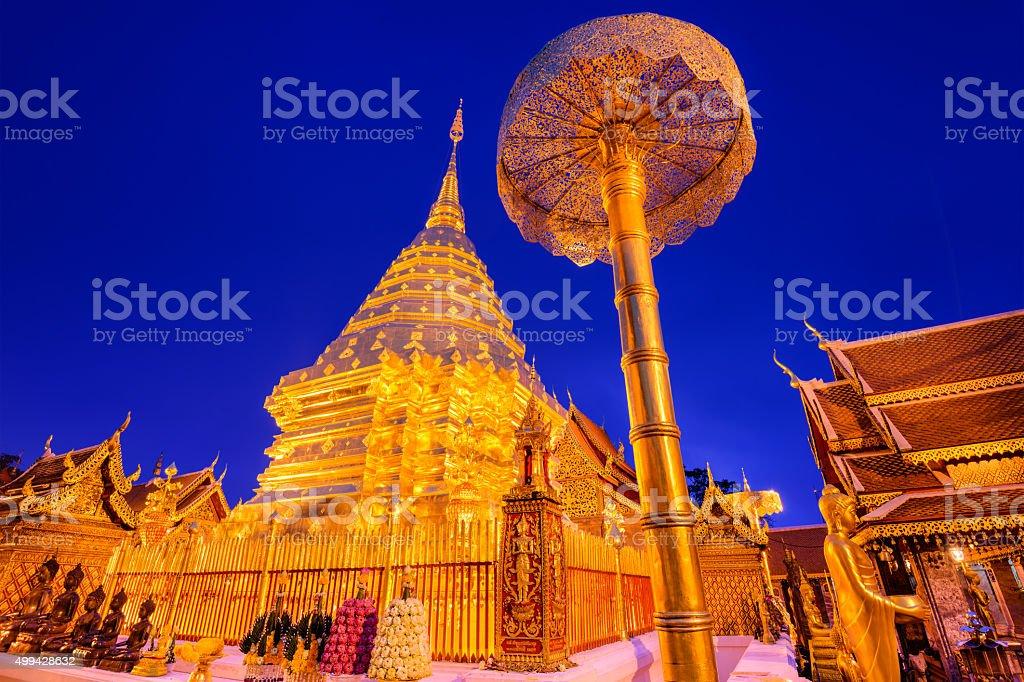 Wat Doi Suthep in Chiang Mai stock photo