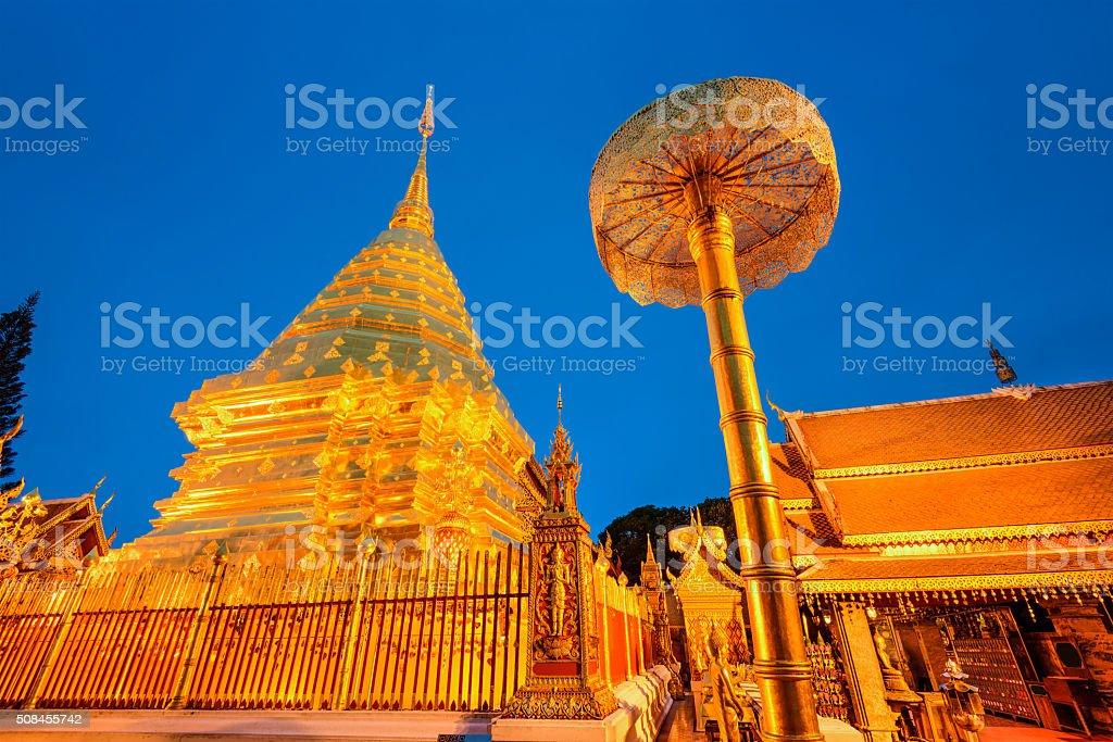 Wat Doi Suthep stock photo