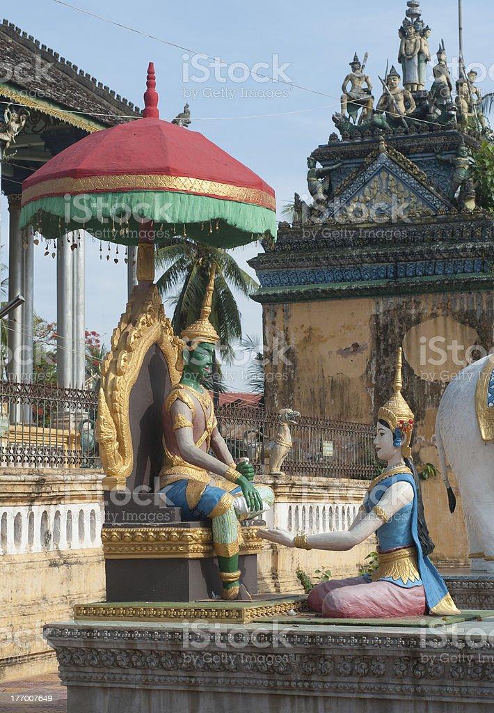 Wat Dum Rai Saw in Battambang, Cambodia stock photo