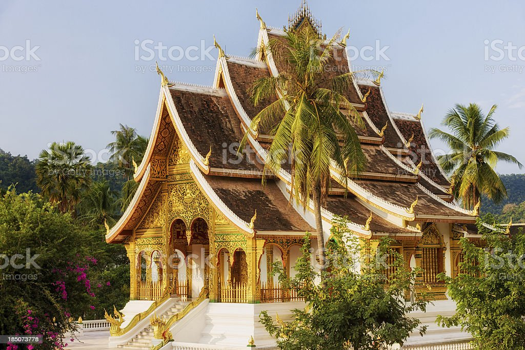 Wat Ho Pha Bang - Buddhist temple in Luang Prabang stock photo