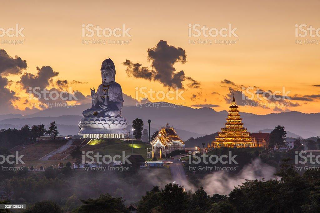 Wat Huay Pla Kang, Chinese temple in Chiang Rai Province stock photo