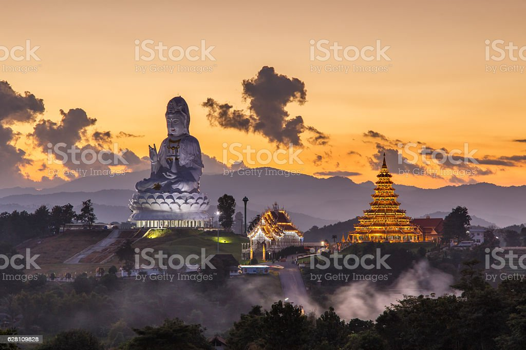 Wat Huay Pla Kang, Chinese temple in Chiang Rai Province stock photo