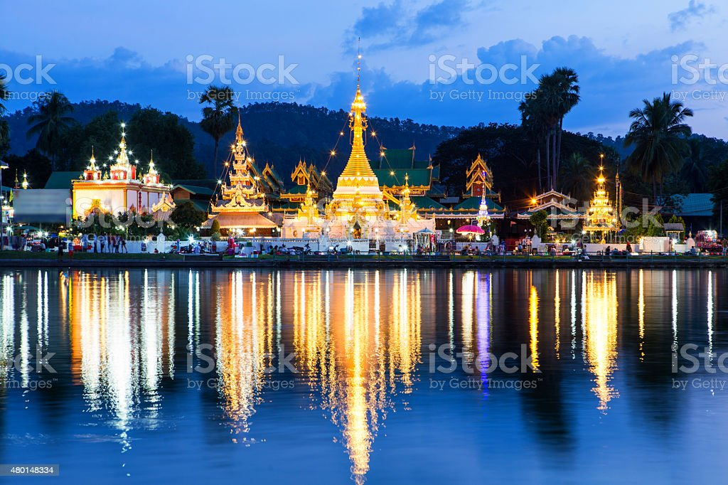 Wat Jongklang stock photo