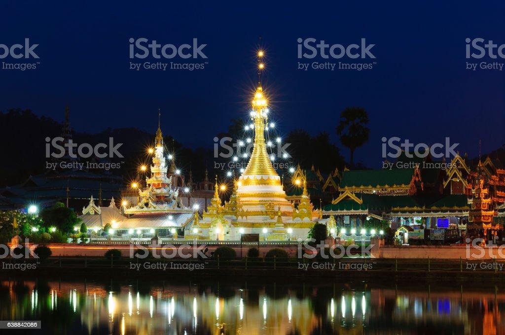 Wat Jongklang - Wat Jongkham the most favourite place stock photo