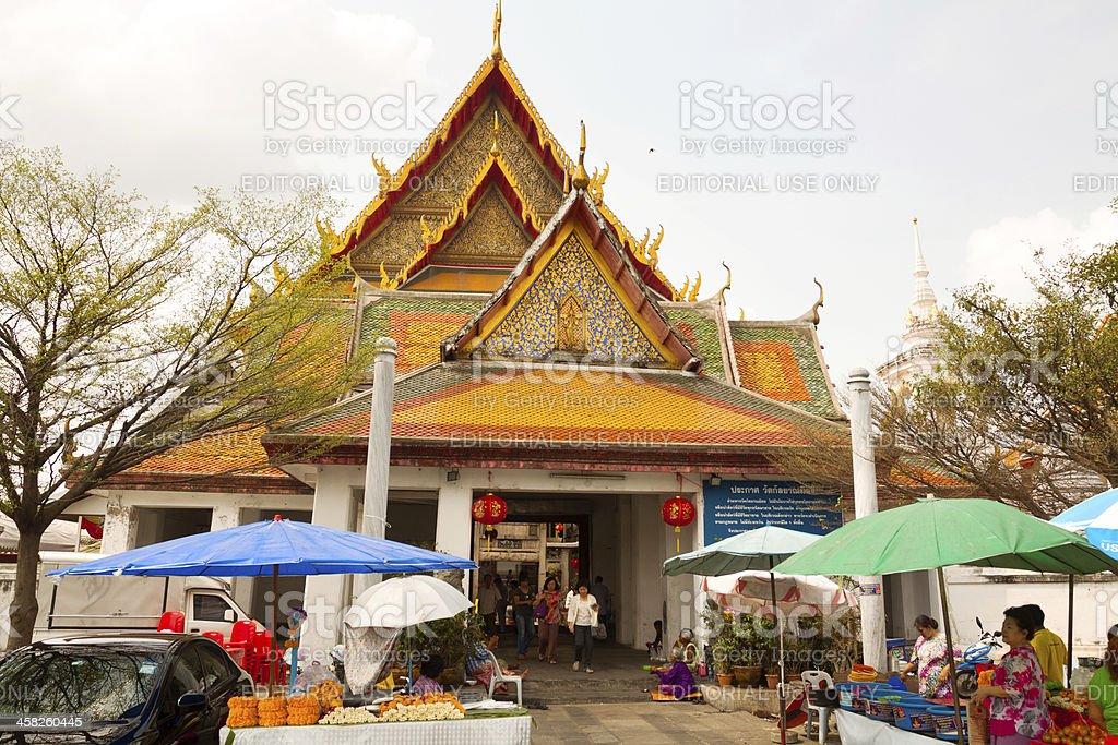 Wat Kanyalanamit in Bangkok royalty-free stock photo