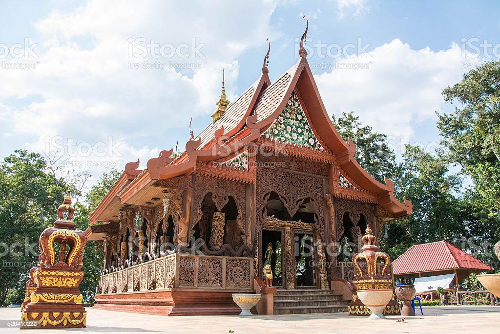 Wat Khaochawang temple in Chantaburi,Thailand stock photo