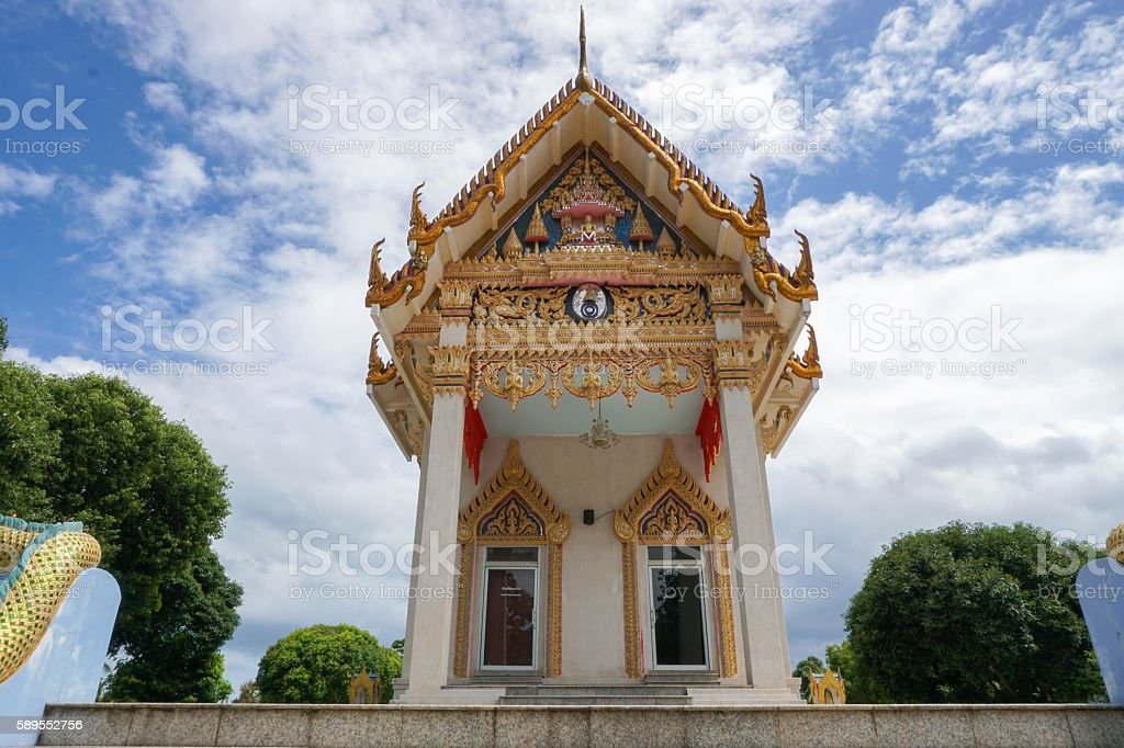 Wat Khunaram Buddhist temple, Samui island stock photo