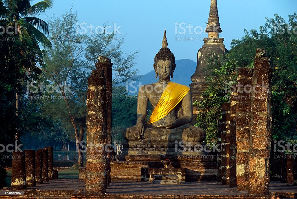 Wat Mahathat Buddha in Sukhothai Historical Park, Thailand stock photo