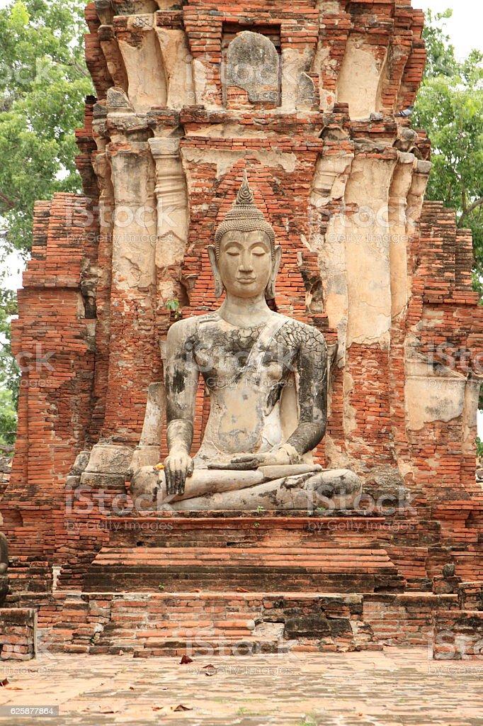 Wat Mahathat in Ayutthaya, Thailand stock photo