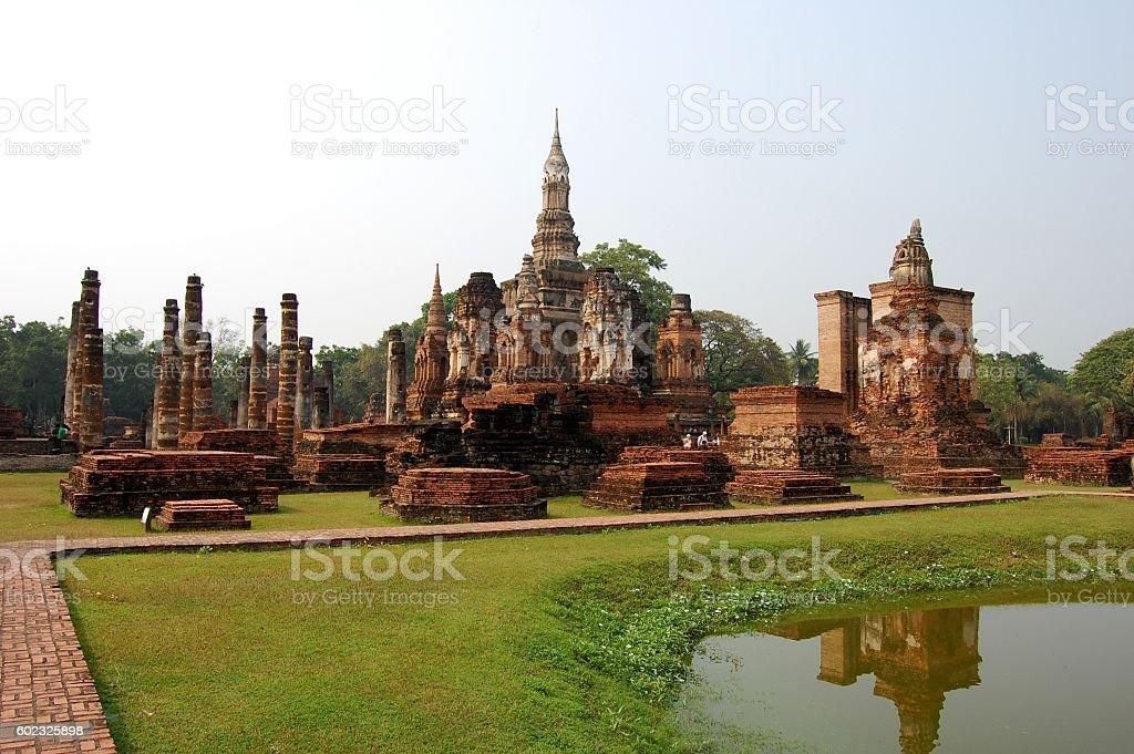 Wat Mahathat, Sukhothai Thailand stock photo